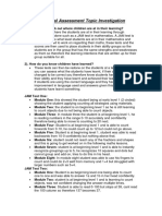 individual assessment topic investigation