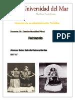 HISTORIA de LAS REPRESENTACIONES de La Mujer Zapoteca Del Istmo de Tehuantepec