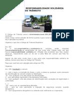 Direito de Trânsito_Saiba o que é a Responsabilidade Solidária nas Infrações de Trânsito