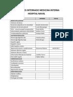 Seminarios Internado Medicina Interna Hospital Naval