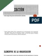 Organización y Financiero