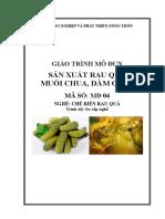 Giáo trình Sản xuất rau quả muối chua, dầm giấm.pdf