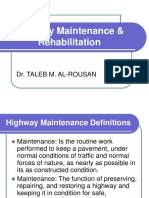 Highway Maintenance &Amp; Rehabilitation