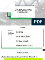 Pertemuan II-III_Simplisia, Ekstrak, Ekstraksi