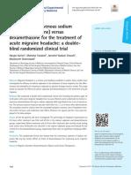 Single-dose intravenous sodium valproate (Depakine) versus dexamethasone for the treatment of acute migraine headache.pdf