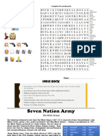 Seven Nation Army Worksheet