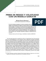 PRIMA DE RIESGO Y VOLATILIDAD CON UN MODELO GARCH-M