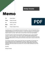 memo - project 2