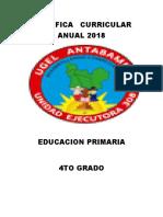 Planificacin Anual 4to Grado Primaria