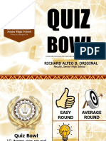 Summative Quiz Bowl