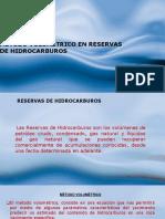 Metodo volumetrico en reserva de hidrocarburos