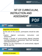Alignment of Curriculum...