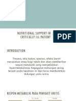 Nutritional Support in Critically Ill Patient