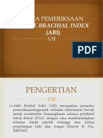 Cara Pemeriksaan Ankle Brachial Index (Abi)
