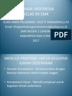 Bahasa Indonesia Kelas Xii3