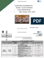 Didactic 2018-2019 Planificare Calendaristica - Clasa Pregatitoare