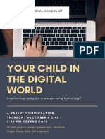 "Parent Conversation - ""Your Child in the Digital World"""
