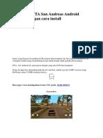 Download GTA San Andreas Android Lengkap Dengan Cara Install