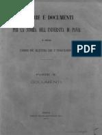 Memorie e Documenti 2 Per La Storia Dell'Universita Di Pavia