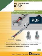 Tohnichi - klucze dynamometryczne do znakowania MCSP - 2016 EN
