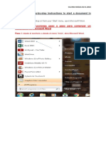 Step by Step for Create a Word Document