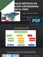 Principales Métodos de Explotación Subterránea en El Perú