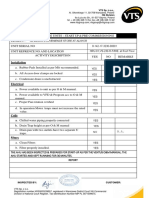 VTS Checklist