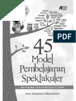 45 Model Pembelajaran Spektakuler