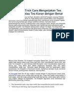 Tips dan Trick Cara Mengerjakan Tes Kraepelin atau Tes Koran dengan Benar.docx
