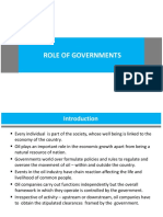 UPES'18 - Role of Governments