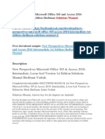New Perspectives Microsoft Office 365 and Access 2016 Intermediate 1st Edition Shellman Solutions Manual