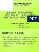 Inventory Management Practices of the Selected Meatshops In