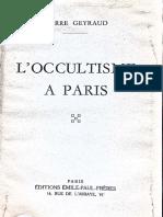 l Occultisme a Paris