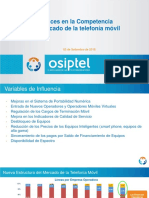 Avances Competencia Mercado Telefonia Movil