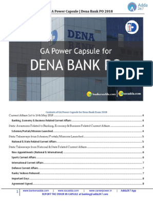 dena bank po capsule | Foreign Direct Investment | Business