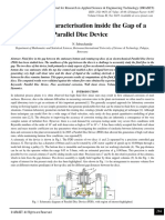 Fluid Flow Characterisation inside the Gap of a Parallel Disc Device