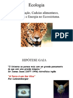 Biologia PPT - Ecologia - Cadeia Alimentar Hipótese Gaia