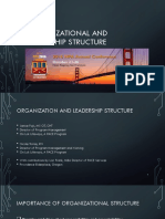 Evolution of Organizational and Leadership Structure