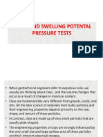 Swell and Swelling Potential Pressure Test