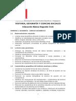 Ed. Básica Segundo Ciclo Historia, Geografía y Ciencias Sociales