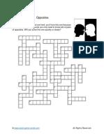 Opposites Crosswords Easy
