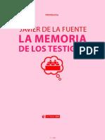 Libro Memoria Javier de la Fuente