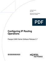 Configuring IP Routing Operations