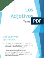 Tema 7 (Los Adjetivos)
