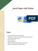Advanced Topics With Python