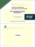 SRMTunit8-2017- Research Project Management