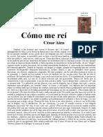 Aira, Cesar - Como Me Rei
