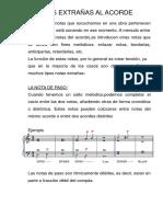 Clase Notas Extrañas