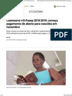 Calendário PIS-Pasep 2018-2019_ Começa Pagamento de Abono Para Nascidos Em Novembro