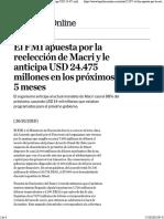 El FMI apuesta por la reelección de Macri y le anticipa USD 24.475 millones en los próximos 5 meses.pdf
